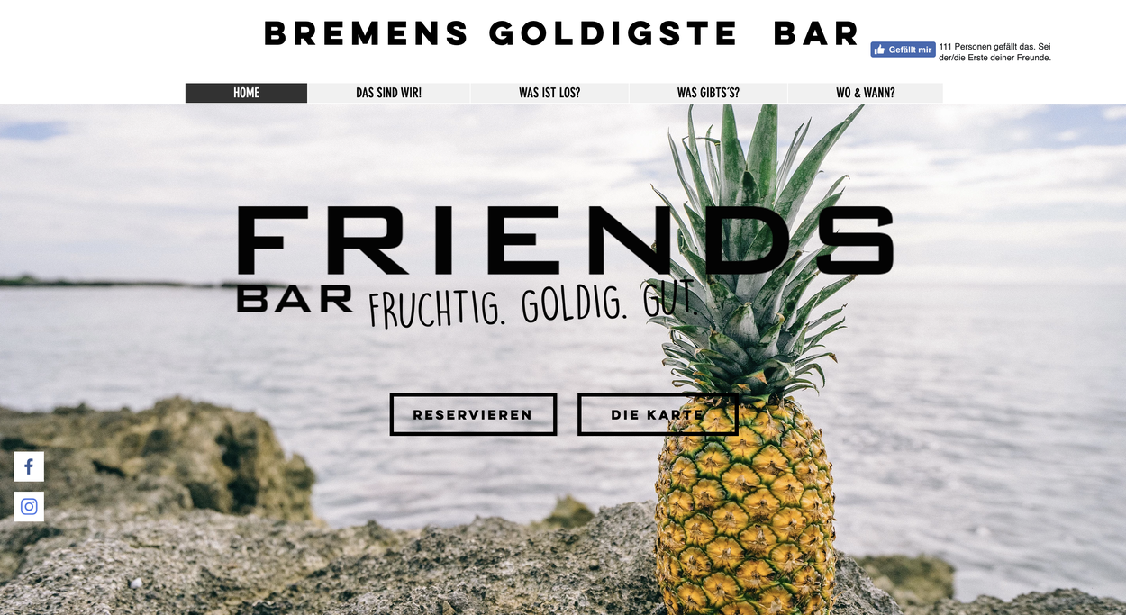 friendsbar screenshot webseite neu